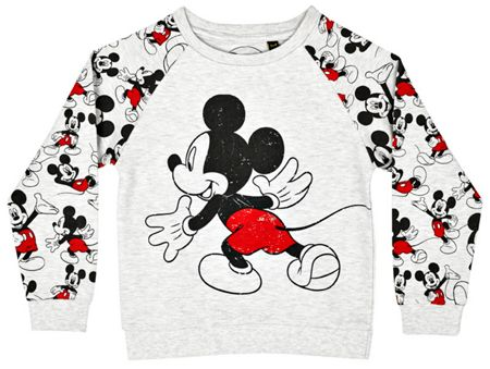 Fabric Flavours Girls mickey mouse sweatshirt