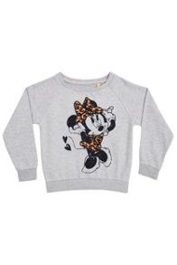 Fabric Flavours Girls minnie leopard print sweatshirt
