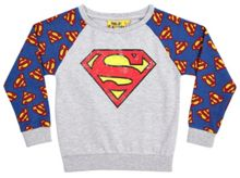 Fabric Flavours Girls superman sweatshirt