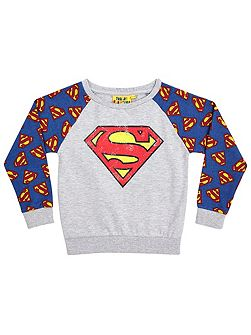 Girls superman sweatshirt