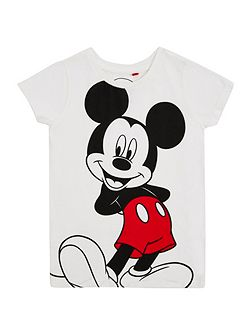Girls mickey mouse t-shirt