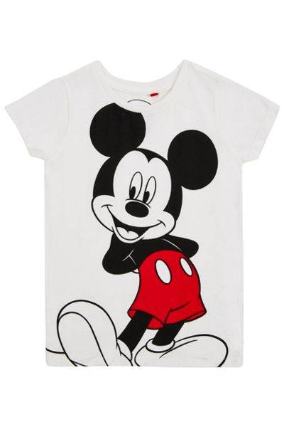 Fabric Flavours Girls mickey mouse t-shirt