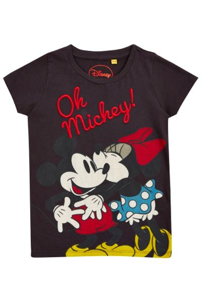 Fabric Flavours Girls `oh mickey` t-shirt