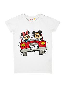 Girls mickey car t-shirt