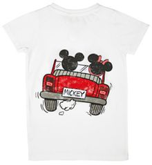 Fabric Flavours Girls mickey car t-shirt