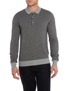 Peter Werth Nouveau long sleeved knitted polo shirt