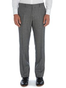 Dempsey n.1 cut flat fronted check trousers