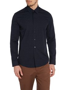 Peter Werth Ellington cut graphic print shirt