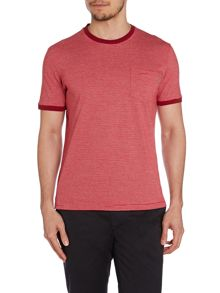 Peter Werth Heath Stripe Crew Neck Slim Fit T-Shirt