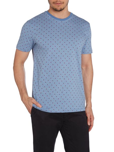 Peter Werth Donald Arrow Pattern Crew Neck Slim Fit T-Shirt