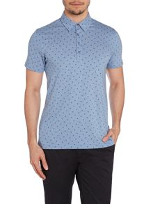 Peter Werth Ronson Pattern Slim Fit Polo Shirt