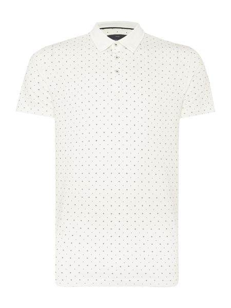 Peter Werth Danny Pattern Slim Fit Polo Shirt