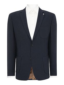 Julian pin dot shawl collar blazer