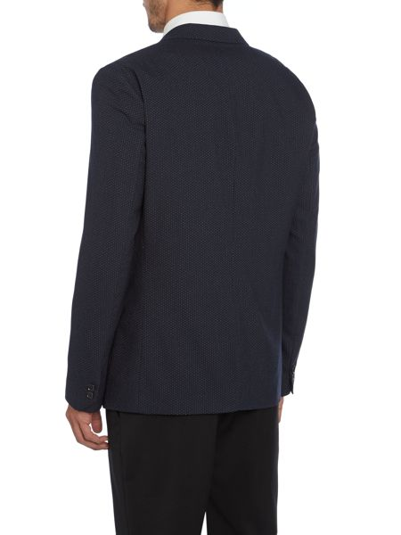 Peter Werth Julian pin dot shawl collar blazer