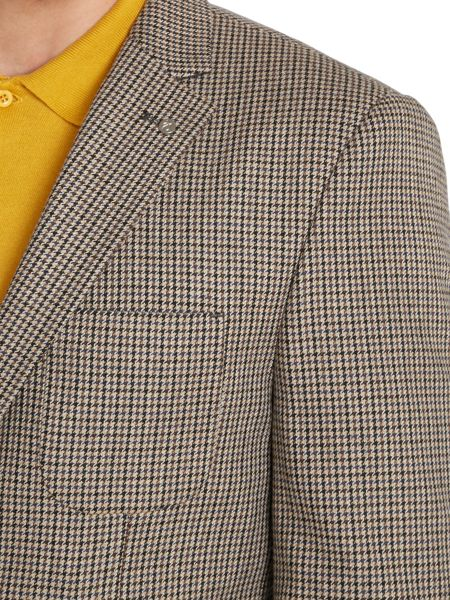 Peter Werth Keith dogtooth patch pocket blazer