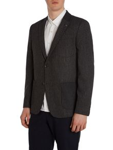 Peter Werth Jonny Wide Stripe Patch Pocket Blazer