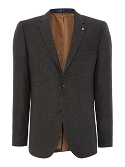 Ali Basket Weave Jetted Pocket Blazer