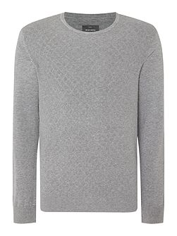 Men's Peter Werth James Argyle Textured Crew Neck