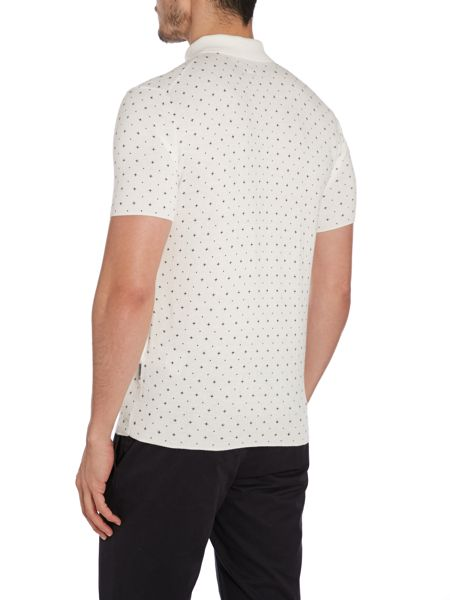 Peter Werth Kenneth Pattern Slim Fit Polo Shirt