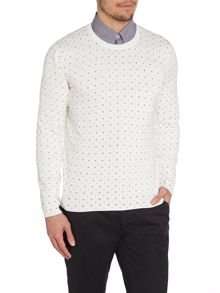 Peter Werth Watts Pattern Crew Neck Jumper