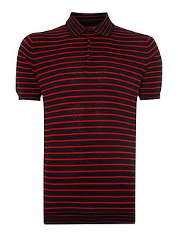 Ronnie Stripe Crew Neck Button Jumper