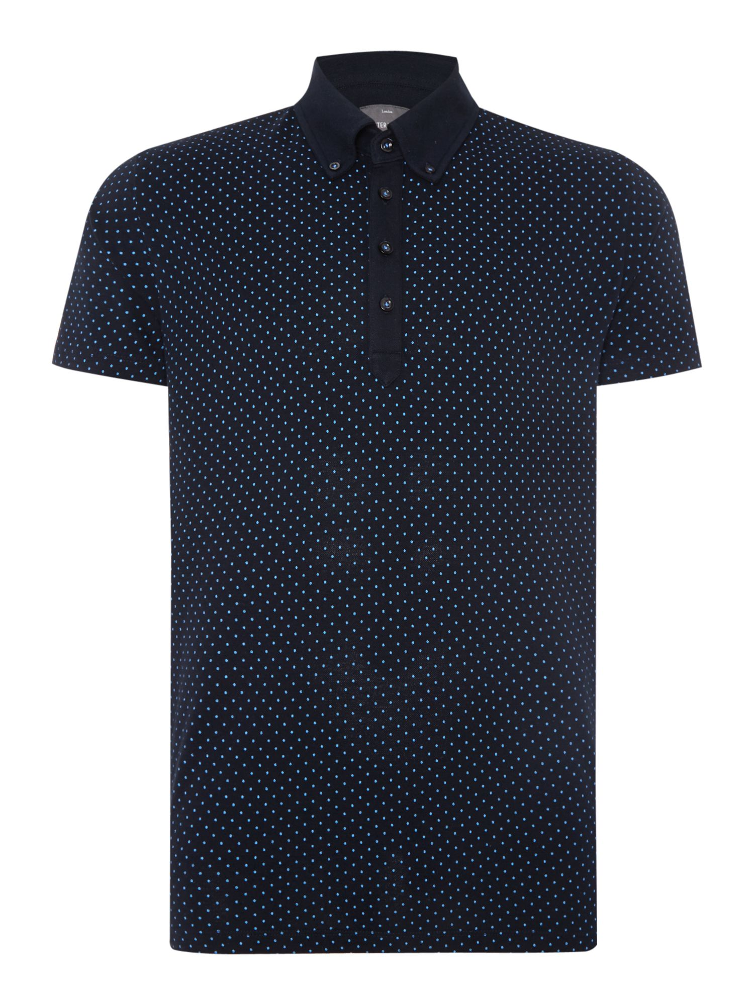 Men's Peter Werth Ritchie Polka Dot Slim Fit Polo Shirt, Blue