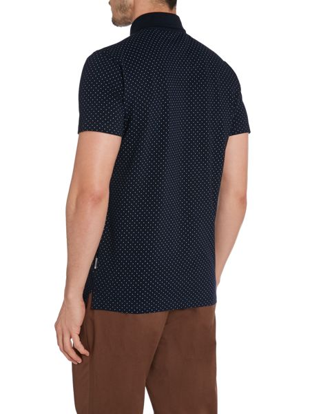 Peter Werth Ritchie Polka Dot Slim Fit Polo Shirt