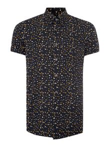 Hogarth Floral Slim Fit Short Sleeve Classic Coll