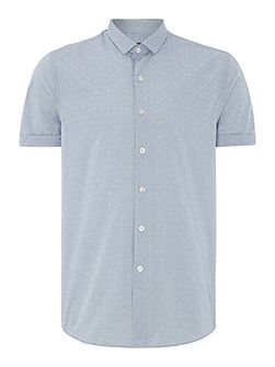 Hawkins Textured Slim Fit Button Down Shirt