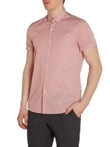 Peter Werth Hawkins Textured Slim Fit Button Down Shirt