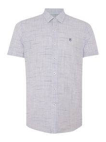 Peter Werth Drayton Check Slim Fit Short Sleeve Shirt