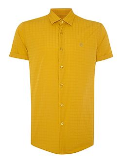 Drayton Check Slim Fit Short Sleeve Button Down