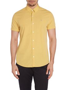 Peter Werth Drayton Gingham Slim Fit Short Sleeve Button Down