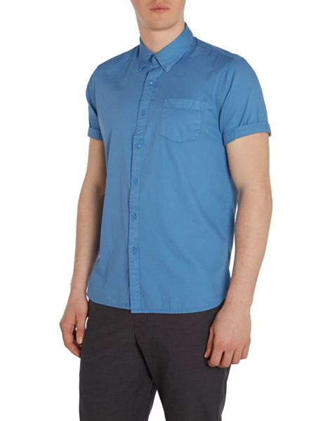 Peter Werth Noel Garment Dyed Plain Slim Fit Shirt