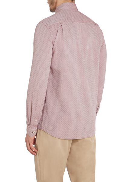 Peter Werth Ellington Textured Slim Fit Long Sleeve Button Do