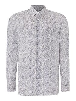Broad Botanic Pattern Slim Fit Long Sleeve Shirt