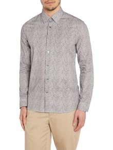 Peter Werth Broad Botanic Pattern Slim Fit Long Sleeve Shirt