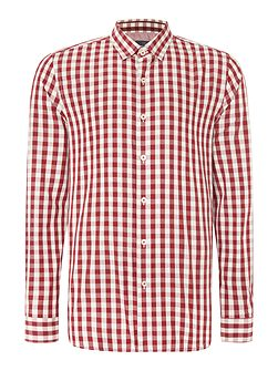 Dana Check Slim Fit Long Sleeve Button Down
