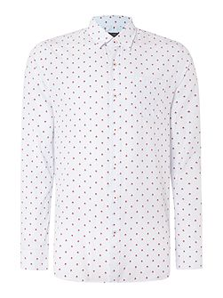 Doyle Pattern Slim Fit Long Sleeve Button Down