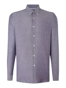Peter Werth Shaw Pattern Slim Fit Long Sleeve Button Down Shi