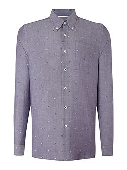Shaw Pattern Slim Fit Long Sleeve Button Down