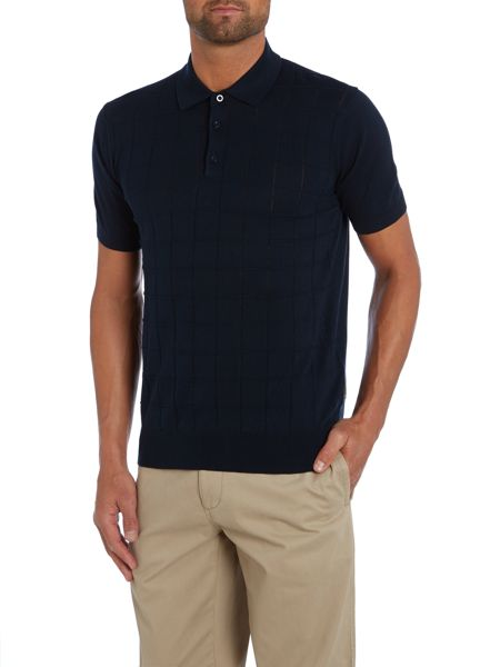 Peter Werth Shaw Textured Polo Slim Fit Polo Shirt