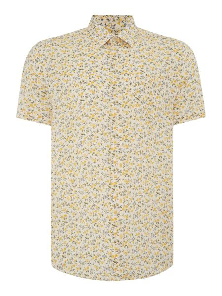 Peter Werth Neau Floral Slim Fit Long Sleeve Button Down Shir