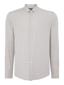 Whitworth Textured Slim Fit Long Sleeve Button Do