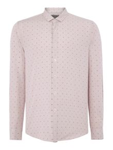 Peter Werth Whitworth Textured Slim Fit Long Sleeve Button Do
