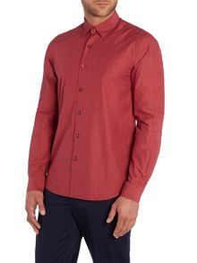 Peter Werth State Textured Slim Fit Long Sleeve Button Down S