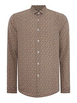 Porter Floral Slim Fit Long Sleeve Button Down