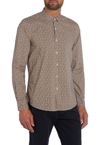 Peter Werth Porter Floral Slim Fit Long Sleeve Button Down Sh