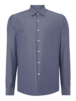 Tasker Polka Dot Slim Fit Long Sleeve Button