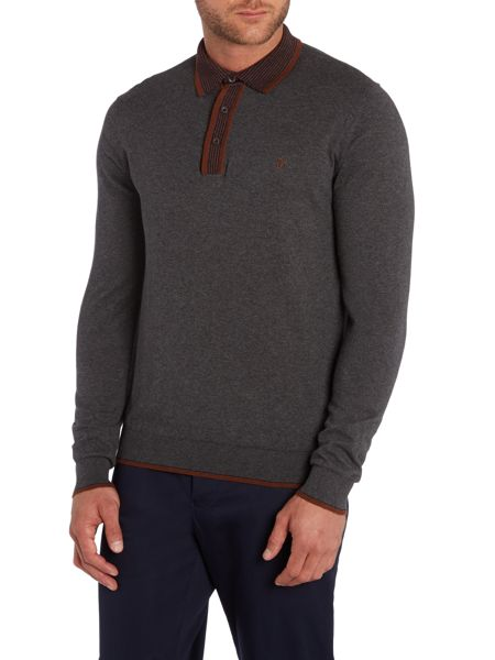 Peter Werth Johnny Boy Plain Crew Neck Button Jumpers